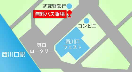 JR京浜東北線・西川口駅から国際興業バス25分